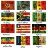 самая старая флагов Африки важная Стоковые Изображения RF
