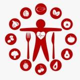 Самая лучшая еда для вашего сердца иллюстрация вектора