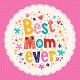 Самая лучшая карточка дня матерей мамы всегда счастливая Стоковые Изображения RF