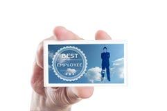Самая лучшая концепция карточки работника Стоковое Фото