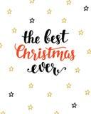 Самая лучшая поздравительная открытка рождества всегда Стоковая Фотография
