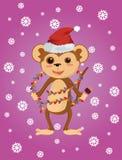Самая лучшая плоская обезьяна рождества Стоковые Изображения