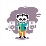 Самая лучшая плоская панда музыки Стоковые Фотографии RF