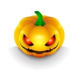 Самая лучшая темная тыква на хеллоуине, с глазами  Стоковое Изображение