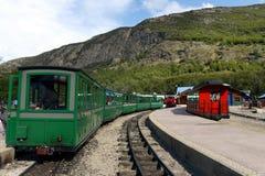 Самая южная железная дорога в мире на краю земли Стоковые Изображения RF