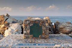 Самая южная подсказка Африки на накидке Agulhus стоковое фото rf