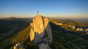 Саммит 2 альпиниста стоковое фото rf
