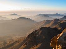 Саммит горы Синай Стоковая Фотография