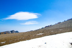 Саммит горы changbai (озеро tianchi) Стоковое Изображение RF