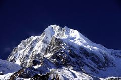 Саммит горы Ga гонга в Сычуань Китае Стоковое фото RF