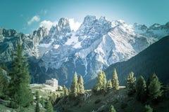 Саммит доломитов Италии Cristallo Стоковое фото RF