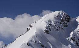саммит лыжи Стоковое Изображение