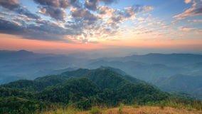 Саммит холма Tulay, провинции Tak, Таиланда Стоковая Фотография RF