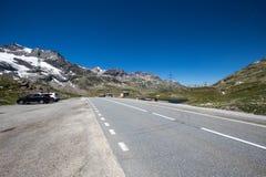 Саммит Bernina на летний день стоковые изображения rf