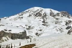 Саммит Mount Rainier, Вашингтон, США Стоковое Изображение RF