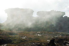 Саммит Roraima Tepui, Gran Sabana, Венесуэла Стоковые Фото