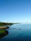 Самоанские воды от парома Стоковое фото RF
