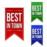Самое лучшее в комплекте дизайна знамени городка Стоковое Изображение RF