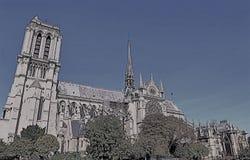 Самое лучшее Нотр-Дам Париж Франция стоковое фото rf