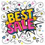 Самое лучшее сообщение продажи в стиле искусства шипучки Стоковая Фотография RF