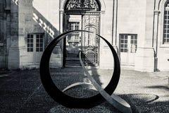 Самое лучшее художественное произведение Авиньон Франция черно-белая стоковое изображение