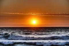 Самое совершенное фото захода солнца стоковое изображение