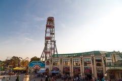 Самое старое колесо Ferris Европы в парке Prater Стоковые Изображения RF