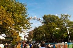 Самое старое колесо Ferris Европы в парке Prater Стоковая Фотография RF