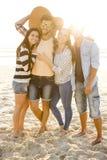 Самое лучшее лето с друзьями стоковые фото