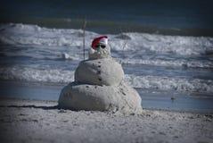 Самое лучшее как миров песка, так и снеговика Стоковое Изображение