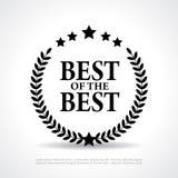 Самое лучшее самого лучшего значка Стоковое фото RF