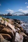 Самое лучшее attrection ` s мира 2 туристское, оперный театр Сиднея и Стоковое фото RF