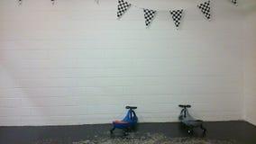 Самокаты гонок с знаменем Стоковые Фотографии RF