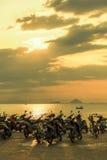 Самокаты на пляже Стоковые Фотографии RF
