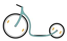 Самокат велосипеда пинком Стоковое Фото