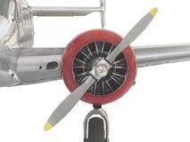 Самолетный двигатель сбора винограда, пропеллер, и isola крыла стоковое фото