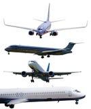 Самолеты изолированные с путями плана включили Стоковые Изображения