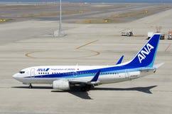 Самолет АНАА на международном аэропорте Chubu Centrair, Японии Стоковые Фотографии RF