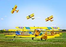 Самолет-бипланы Стоковое Фото