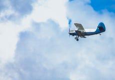 Самолет-биплан пропеллера Стоковая Фотография RF