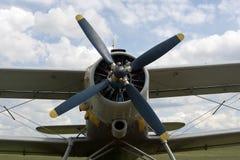 самолет-биплан Стоковое Фото
