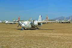 Самолет бомбардировщика всадника призрака в воздухе Pima и музее космоса Стоковые Изображения