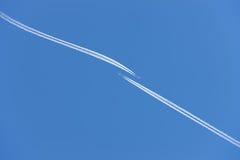самолет во избежание авария стоковая фотография