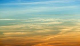 Самолет выходит тропка Стоковые Изображения