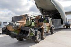 Самолет груза A400 тележки артиллерии воинский Стоковые Изображения