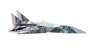 Самолет доллара Стоковое фото RF