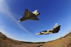 самолет-истребители воздуха воинские Стоковые Изображения RF