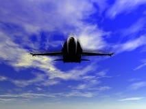 самолет-истребитель воздушных судн f18 Стоковое Изображение RF