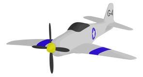 Самолет-истребитель Второй Мировой Войны иллюстрация вектора