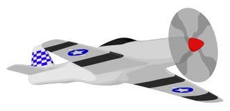 Самолет-истребитель Второй Мировой Войны иллюстрация штока